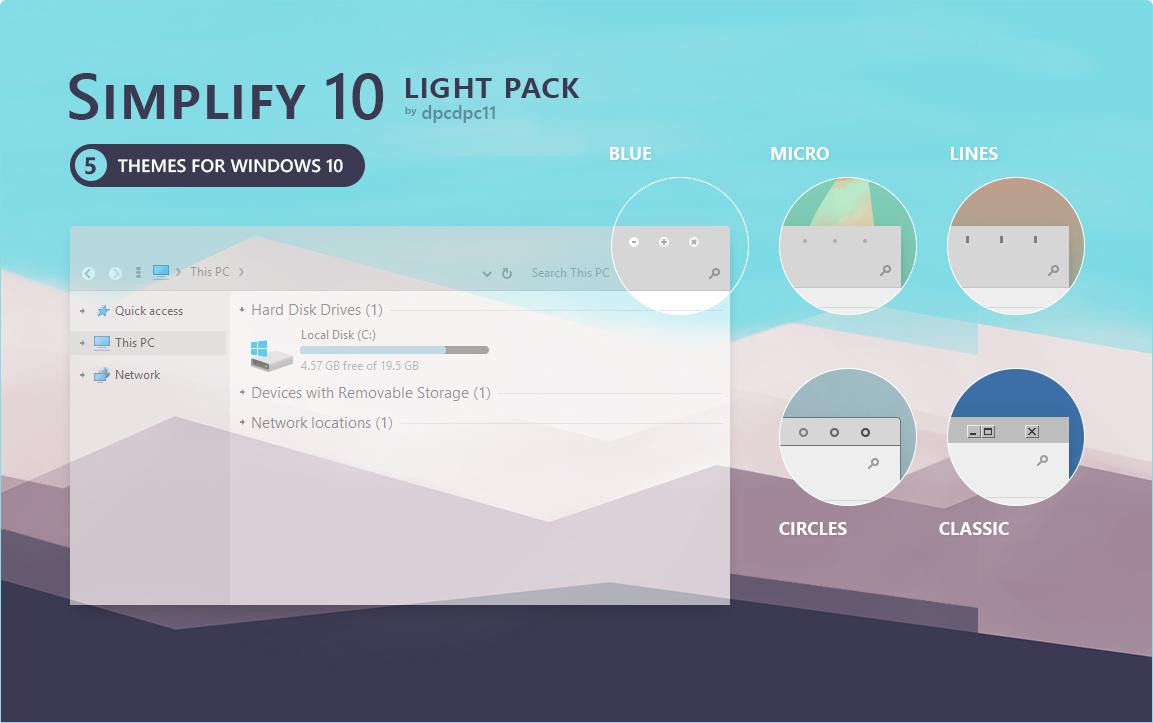 Simplify 10 Light win10主题