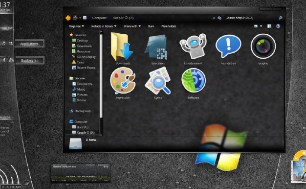 黑色背景透明软件——Black Glass Enhanced