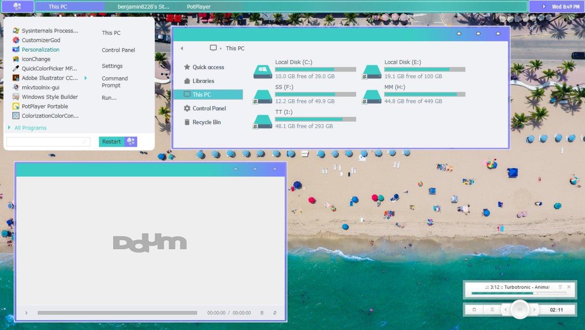 Pokifina Windows10主题