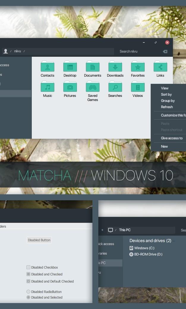 MATCHA WINDOWS 10
